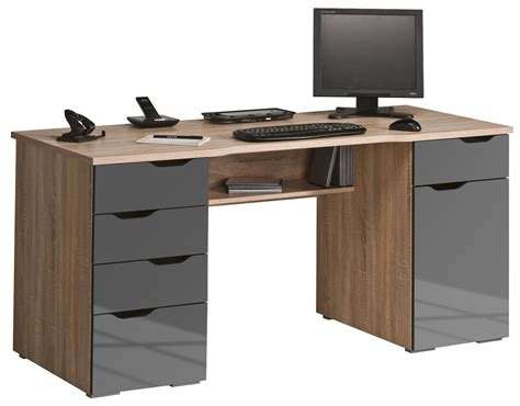 bureau taupe maja malborough oak grey computer desk