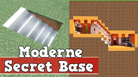Wie Baut Moderne Häuser In Minecraft by Wie Baut Eine Moderne Geheime Basis In Minecraft