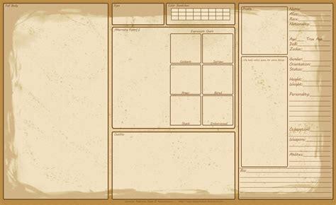 character sheet template reference sheet template by kazzantichaos on deviantart