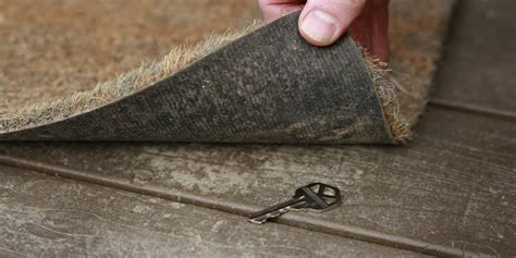 Key Doormat by 6 Places You Should Never Hide Your House