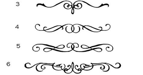 calligraphy scroll designs pretty squiggly lines