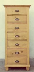 Vintage Möbel München : massivholz hochkommode mit 7 schubladen in weichholz fichte antik m bel antiquit ten alling ~ Indierocktalk.com Haus und Dekorationen