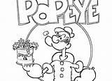 Popeye Coloring Pages Sailor Cartoon Spinach Discord Printable Getcolorings Mlp Getdrawings Colorings sketch template