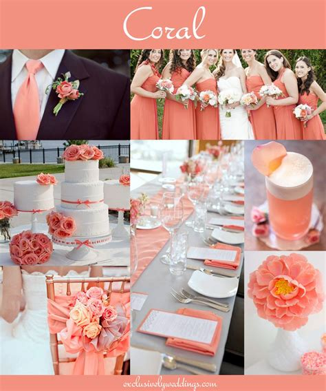 Coral Wedding Decorations by Coral Wedding Receptions On Coral Wedding