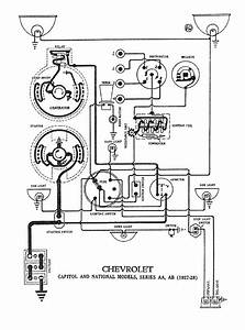 Chevrolet Chevy 1928 Car Wiring Electrical Diagram
