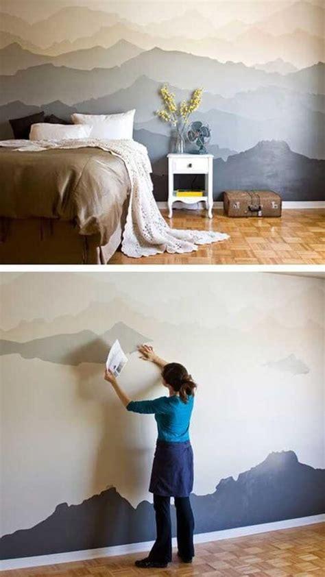 44 Ideen Fuer Erstaunliche Wandverkleidung3d Wall For Spaces by Berge Malen Diy Schlafzimmer Dekoration Deko In 2019