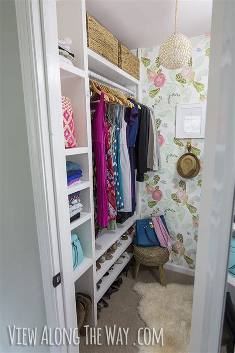 Walk In Closet Ideas On A Budget by Girly Glam Closet Makeover Reveal View Along The Way