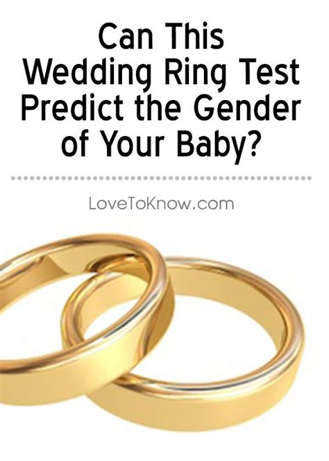 wedding ring gender test pregnancy babies labor childbirth pregnancy problems maternity
