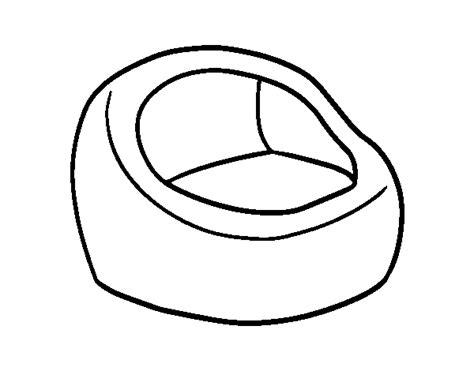 Disegno Di Poltrona Rotonda Da Colorare