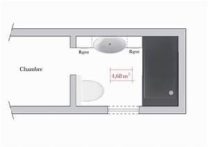 agencement salle de bain 3m2 modern aatl With agencement salle de bain 3m2