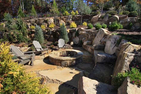 landscape with pit elegant bonfire pit in landscape traditional with fire pit seating next to stone fire pit