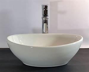 Waschbecken Oval Aufsatz : kleines keramik aufsatz waschbecken oval g ste wc 40x32cm ~ Orissabook.com Haus und Dekorationen