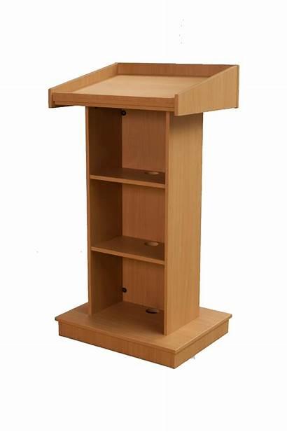 Podium Wooden Simple Sp Plywood Teak Finish