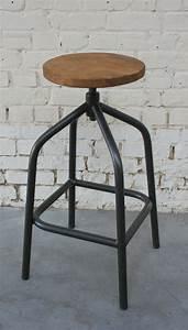 Tabouret De Bar Retro : tabouret de bar tb 39 tabh002 giani desmet meubles indus bois m tal et cuir ~ Teatrodelosmanantiales.com Idées de Décoration