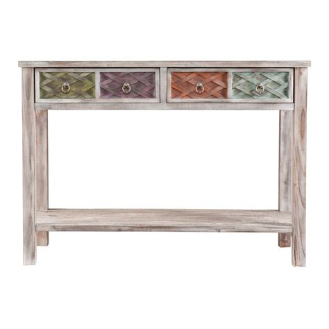 multi coloured table l southern enterprises erie white washed and multi colored