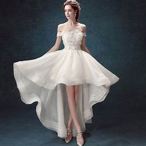 Elegant white wedding dresses sexy short bridal gowns boat for Classy short wedding dresses