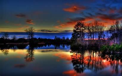 Lake Sunset Colorful Nature Lakes Paulk Wallpapers