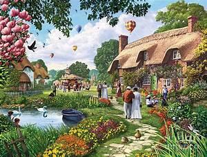 Pond Cottage Digital Art by Steve Crisp