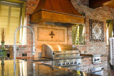 high  outdoor kitchen  louisiana landscaping network