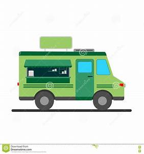 Street Food Truck Illustration Stock Vector - Image: 73355865