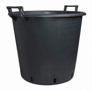 Balkonbeläge Aus Kunststoff : pflanzcontainer aus kunststoff mit griff schwarz 65 cm ~ Michelbontemps.com Haus und Dekorationen