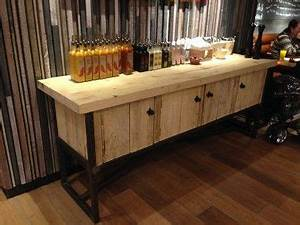 Condiments Cabinet Design Condiment Station Recyled Reclaimed Wood Sideboard Industrial Style Furniture Furniture