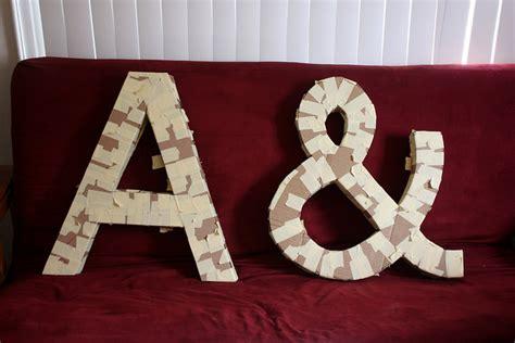 diy cardboard letters guide patterns