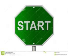 Green Start Sign Clip Art