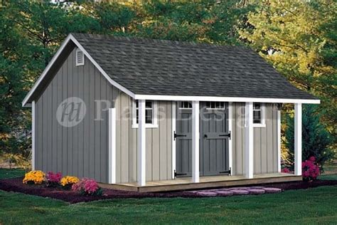 Plans For Backyard Sheds by 14 X 16 Cape Code Storage Shed With Porch Plans P81416