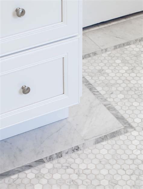 Mosaic Border Tiles Bathrooms by Hexagon Mosaic Floor Border Marble Mosaic