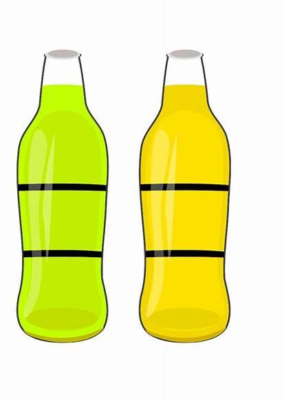 Bottle Bottles Clip Clipart Water Cartoon Soda