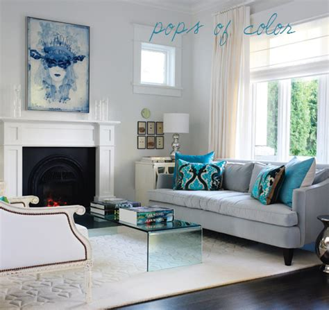 grey white and turquoise living room dash of modern pinch of traditional interior design