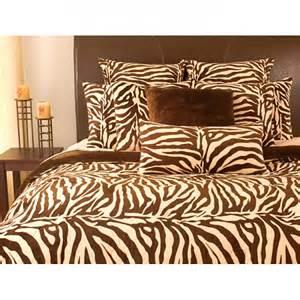 microplush zebra print king size 3 piece comforter set by thro ltd