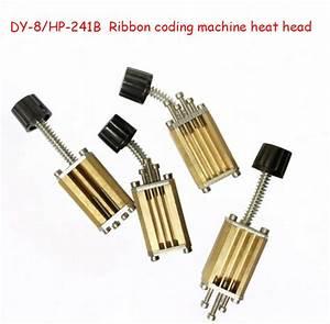 Dy 8  Hp 241b Direct Heating Ribbon Coding Machine Electric Manual Coding Machine Loaded Word