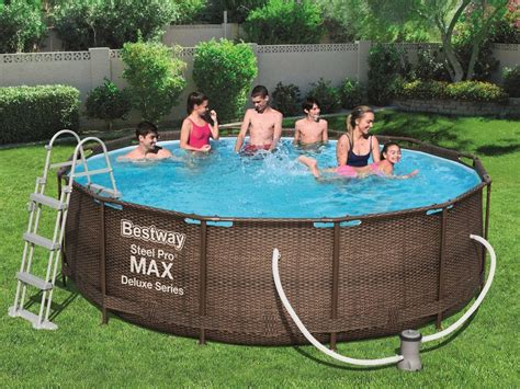 bestway swimming pool frame rattan   cm