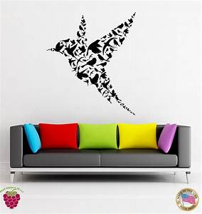 Wall stickers vinyl decal bird abstract modern unusual