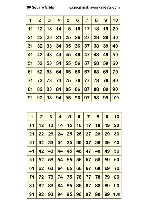 number resources cazoom maths worksheets