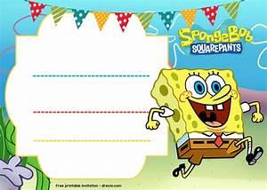 free spongebob birthday invitation template drevio With spongebob party invitation templates