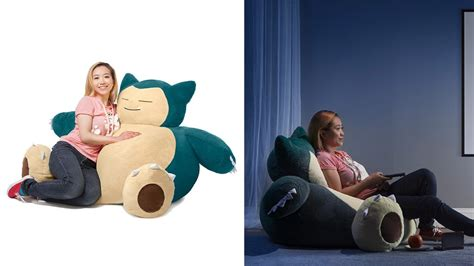 snorlax bean bag chair coming exclusively to think nintendo wire