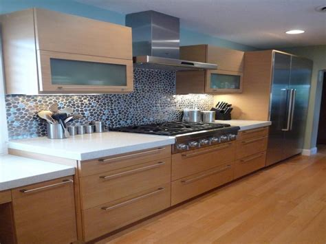 modern kitchen   bamboo cabinets kraftmaid outlet