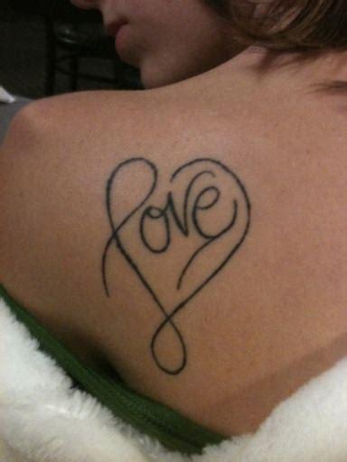formed love tattoo
