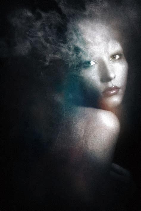 dramatically mysterious smoky portraits