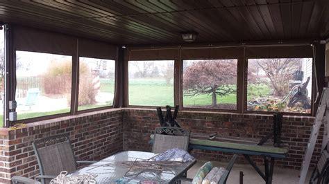 clear drop curtains installed   porch kreiders canvas service