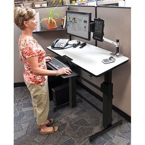 poste de travail bureau ergotron workfit d bureau assis debout meuble ordinateur
