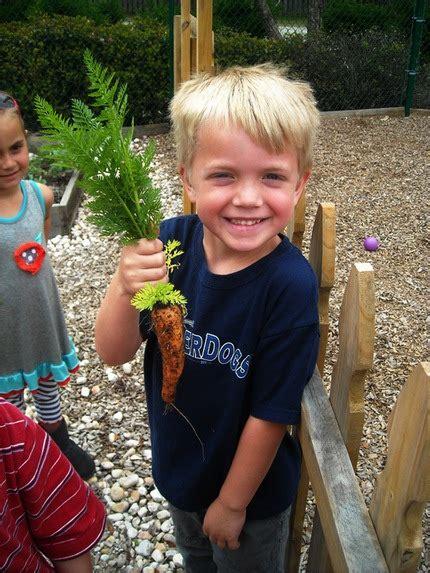 meet the directors amp teachers at cadence academy preschool 166   preschool boy with carrot from garden cadence academy preschool mount pleasant sc 573