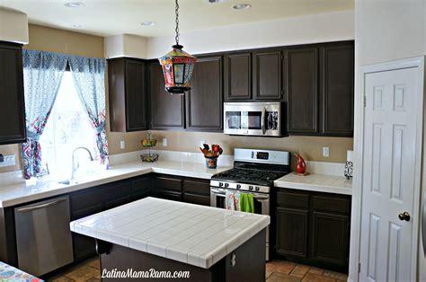 diy repaint kitchen cabinets how to refinish your kitchen cabinets latina mama rama