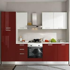 modele de cuisine rouge 62 idees d39inspiration modernes With idee deco cuisine avec cuisine rouge et blanc