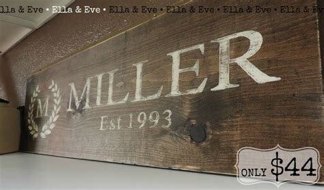 Monogram F Home Decor : Md Monogram Letter W/ Last Name + Year Married Wood Sign