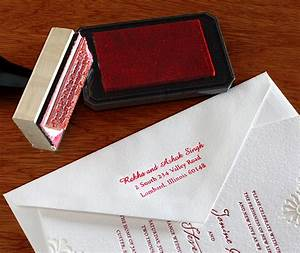 Custom rubber stamps for wedding invitations invitations for Return address envelopes for wedding invitations