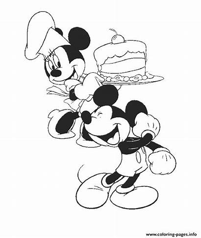 Coloring Minnie Cake Mickey 109d Disney Got